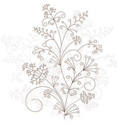 floral design grassy ornament vector image