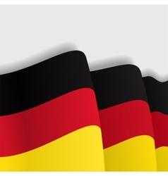 German waving Flag vector image vector image