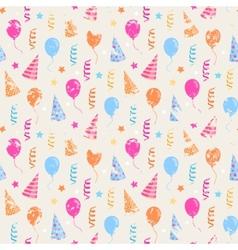 Happy birthday grunge pattern vector image vector image