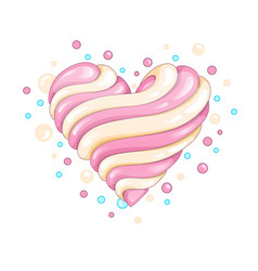 glossy candy heart vector image vector image
