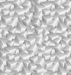 Grayscale Cubes Background vector image