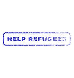 help refugees rubber stamp vector image
