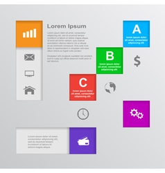infographic template 5 vector image vector image