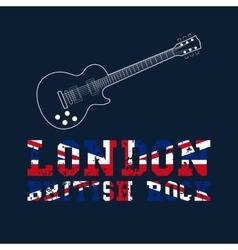London british rock typography vector image