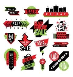 Sale badge stickers percent discount symbols vector