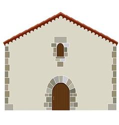 Spanish house vector image