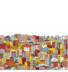 abstract cityscape background seamless pattern vector image vector image