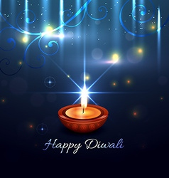 Beautiful artistic background of diwali vector