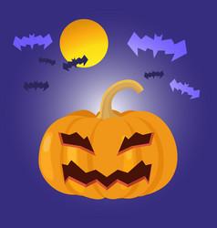 cartoon halloween pumpkin vector image vector image