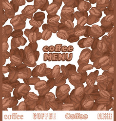 emblem coffee menu with coffee beans vector image vector image