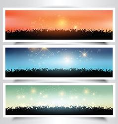 Grassy landscape banners vector image