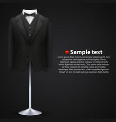 jacket over a black background vector image vector image