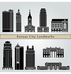 Kansas City landmarks and monuments vector image vector image