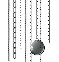 vintage prison shackles vector image