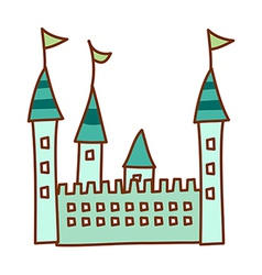 A castle stand on vector