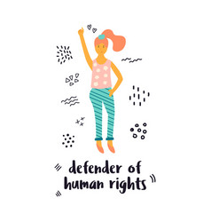 a protesting woman vector image