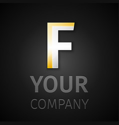abstract logo letter F vector image