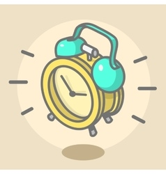 Alarm Clock Ringing And Jumping Cartoon vector