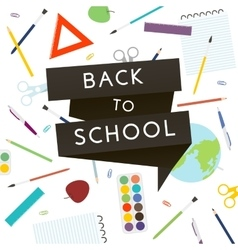 Back to School with school supplies vector image