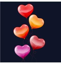 Balloons hearts vector