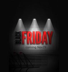 Black friday soon dark poster template vector