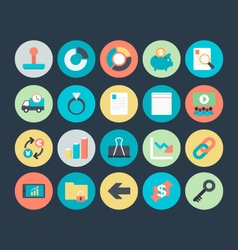 Business Colored Icons 7 vector