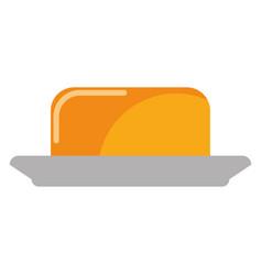 Butter spread piece vector