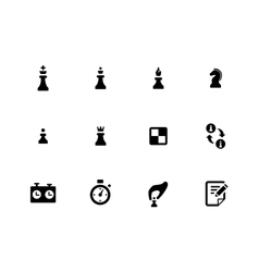 Chess icons on white background vector image
