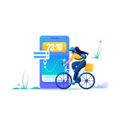 courier delivery to the time when the vector image