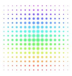 Cpu circuit icon halftone spectral grid vector