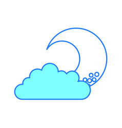 Cute moon with cloud vector