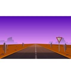 Desert Road At Night vector