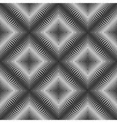 Design seamless diamond dots background vector