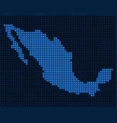 Dot mexico map vector