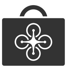 Drone case icon vector