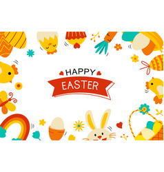 easter flyer and banner template with decorative vector image