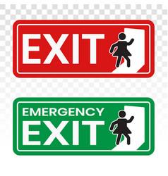 Emergency exit door sign icon for app or website vector
