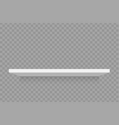 empty white retail shelf vector image