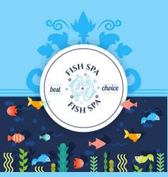 Fish spa advertisement banner vector