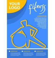 Fitness concept background for business vector image