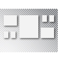 frames collage templates parts picture or vector image