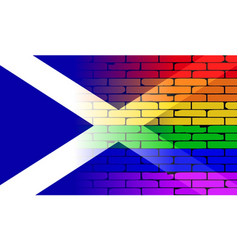 Gay rainbow wall scotland flag vector