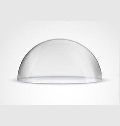 Glass dome container mock-up plastic dome model vector