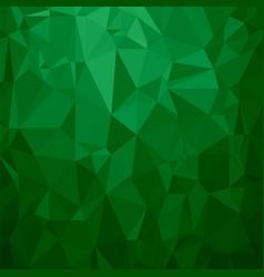 green polygonal background triangular pattern vector image