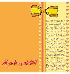 Greeting card for Saint Valentines Day4 vector image vector image