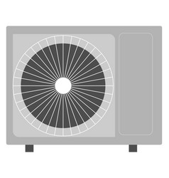 grey air conditioner on white background vector image