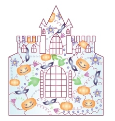 Halloween castle gradient vector image