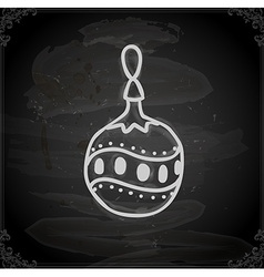 Hand Drawn Christmas Bauble vector image