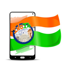 independence day instagram story template vector image