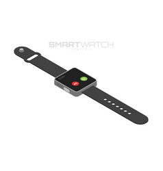isometric smart watches isolated on white vector image